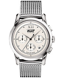 Tissot Men's Swiss Automatic Chronograph Heritage 1948 Stainless Steel Mesh Bracelet Watch 39.5mm