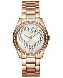 GUESS Women's Rose Gold-Tone Stainless Steel Bracelet Watch 39mm