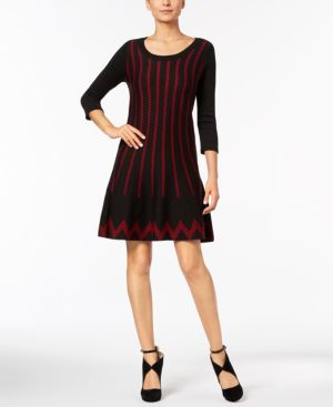 Ny Collection Fit & Flare Sweater Dress thumbnail