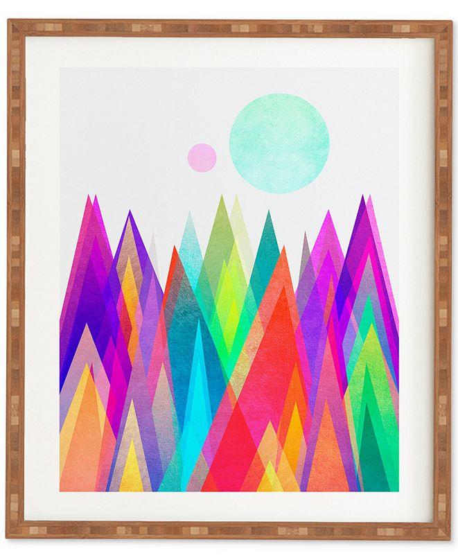 Deny Designs Elisabeth Fredriksson Colorland Bamboo Framed Wall Art