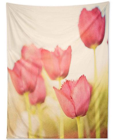 Deny Designs Bree Madden Pink Tulips Tapestry