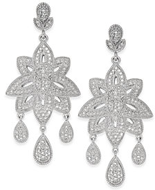 Diamond Dangle Drop Earrings (1/5 ct. t.w.) in Sterling Silver