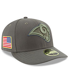 New Era Los Angeles Rams Salute To Service Low Profile 59FIFTY Fitted Cap
