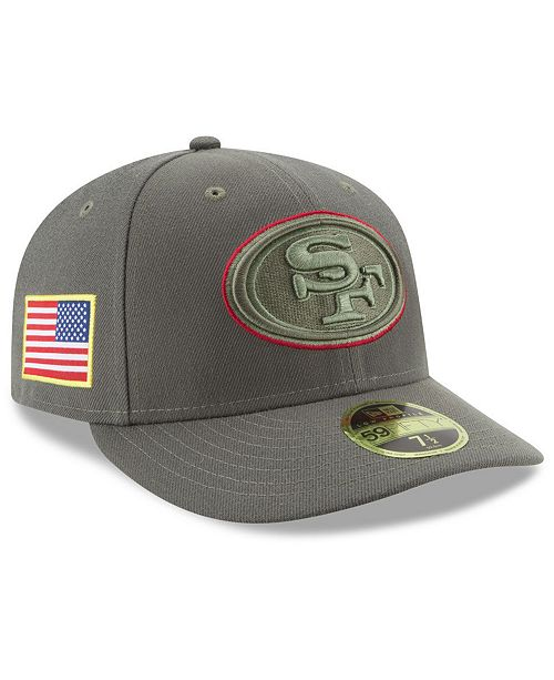 ca2b80f6c ... New Era San Francisco 49ers Salute To Service Low Profile 59FIFTY Fitted  Cap ...