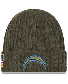 New Era Los Angeles Chargers Salute To Service Cuff Knit Hat