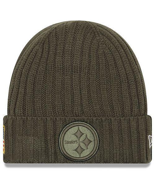 New Era Pittsburgh Steelers Salute To Service Cuff Knit Hat - Sports ... 0df3b2375