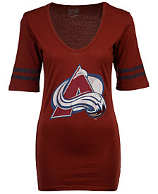 Retro Brand Women's Colorado Avalanche Vintage Sleeve Stripe T-Shirt
