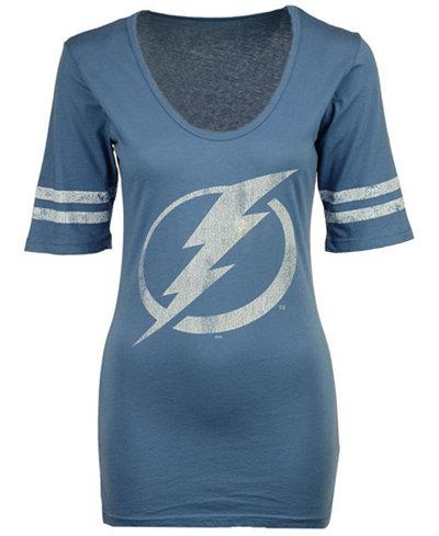 Retro Brand Women's Tampa Bay Lightning Vintage Sleeve Stripe T-Shirt