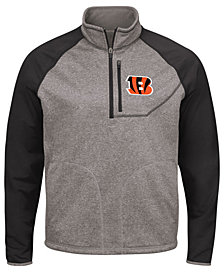 G-III Sports Men's Cincinnati Bengals Mountain Trail Quarter-Zip Pullover