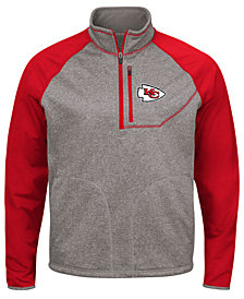 G-III Sports Men's Kansas City Chiefs Mountain Trail Quarter-Zip Pullover