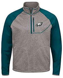 G-III Sports Men's Philadelphia Eagles Mountain Trail Quarter-Zip Pullover