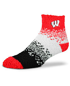 For Bare Feet Wisconsin Badgers Marquee Sleep Soft Socks