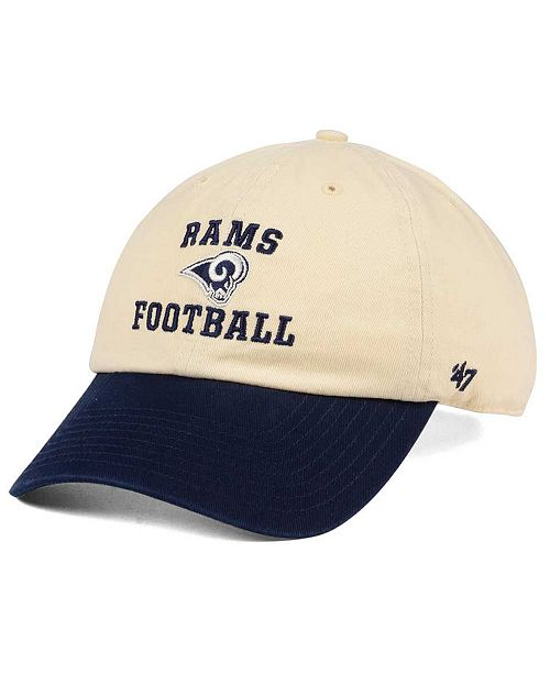 47 Brand Los Angeles Rams Steady Two Tone CLEAN UP Cap