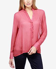Lucky Brand Ruffled Illusion Shirt