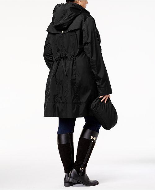 4d5749cf47135 Cole Haan Plus Size Packable Unlined Raincoat   Reviews - Coats ...