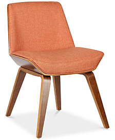 Agi Mid-Century Dining Chair in Walnut Wood and Beige Fabric