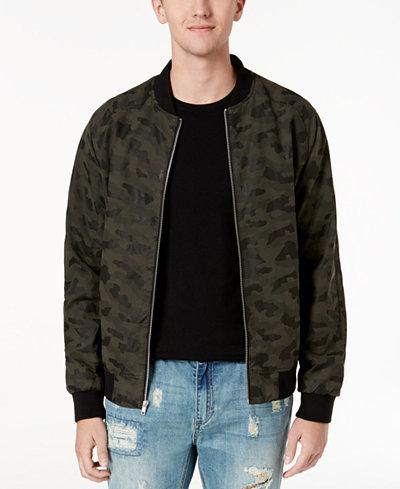 American Rag Men's Camo Bomber Jacket, Created for Macy's