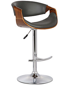 Butterfly Adjustable Swivel Bar Stool, Quick Ship