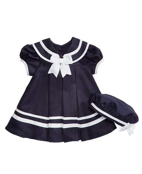 42a034fd34b1d3 Rare Editions Nautical Dress with Hat, Baby Girls & Reviews - Dresses ...
