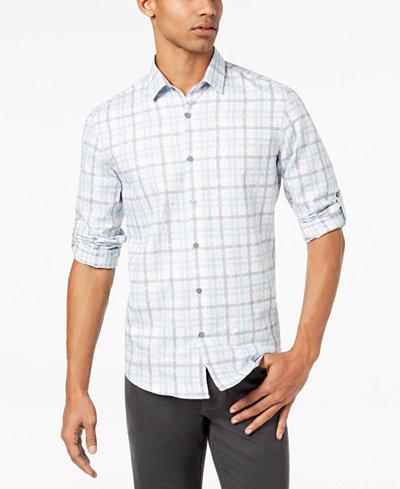 Alfani Men's Check-Print Shirt, Created for Macy's