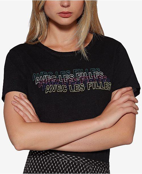 Avec Les Filles Cotton 80s Graphic T-Shirt