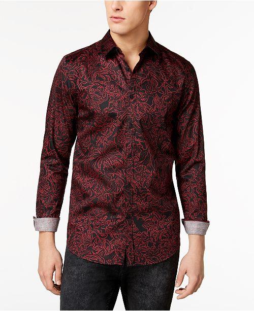 60d150095867 GUESS Men s Luxe Floral Shirt   Reviews - Casual Button-Down ...