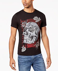 GUESS Men's Skull Graphic-Print T-Shirt