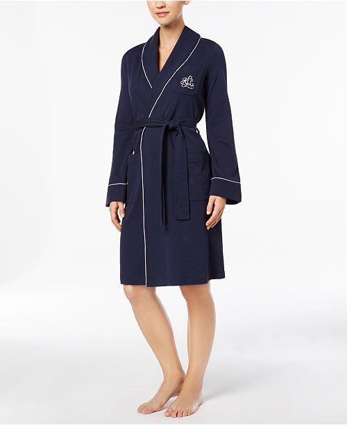 Lauren Ralph Lauren Quilted Shawl Collar Short Robe   Reviews - Bras ... a0d1c9c40