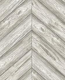 Tempaper Textured Herringbone Self-Adhesive Wallpaper