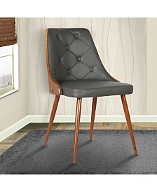 Lily Mid-Century Dining Chair in Walnut Finish