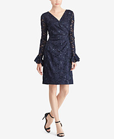 Lauren Ralph Lauren Sequin Floral-Lace Sheath Dress