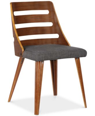 ... Armen Living Storm Mid-Century Dining Chair in Walnut Wood and Gray Faux Leather ...  sc 1 st  Macyu0027s & Armen Living Storm Mid-Century Dining Chair in Walnut Wood and Gray ...