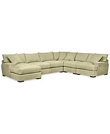Rhyder 5-Pc. Fabric Sectional with Chaise - Custom Colors, Created for Macy's