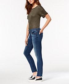 7 For All Mankind Frayed-Hem Ankle Skinny Jeans