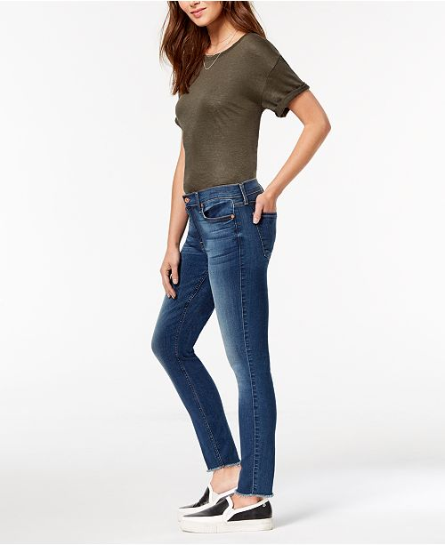 7 For All Mankind Frayed-Hem Ankle Skinny Jeans - Jeans - Women - Macy s 9330e9b1a