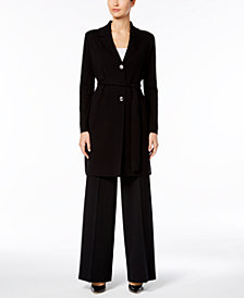 Nine West Sweater Coat & Wide-Leg Pants