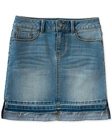 Calvin Klein Released Hem Denim Skirt Big Girls