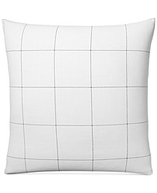 CLOSEOUT! Charter Club Damask Designs Windowpane European Sham, Created for Macy's