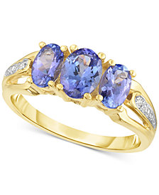 Tanzanite (1-1/2 ct. t.w) & Diamond Accent Ring in 14k Gold
