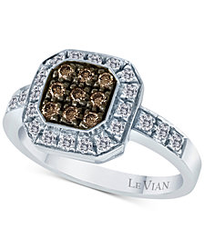 Le Vian Chocolatier® Diamond Halo Ring (1/2 ct. t.w.) in 14k White Gold