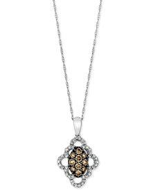 Le Vian Chocolatier® Diamond Pendant Necklace (1/2 ct. t.w.) in 14k White Gold