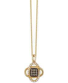 Le Vian Chocolatier® Diamond Pendant Necklace (1/4 ct. t.w.) in 14k Gold