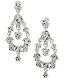 Anne Klein Crystal Orbital Clip-On Drop Earrings