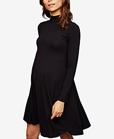 Isabella Oliver Maternity Mock-Neck Jersey Dress