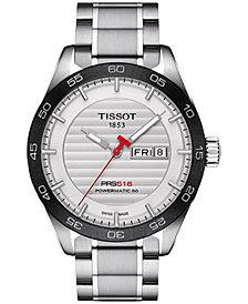 Tissot Men's Swiss Automatic T-Sport PRS 516 Powermatic 80 Stainless Steel Bracelet Watch 42mm