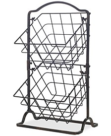 Gourmet Basics By General Store 2-Tier Hanging Basket