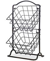 Gourmet Basics By Mikasa General Store 2-Tier Hanging Basket