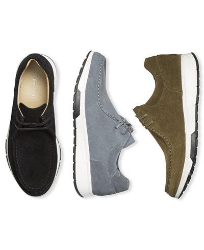 Calvin Klein Men's Kingsley Suede Slip-On Sneakers