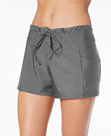 GO by Gossip Solid Swim Shorts, Created for Macy's