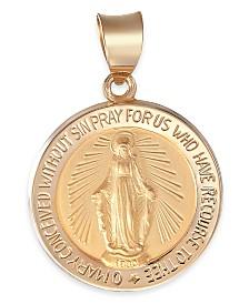 Gold Medal Charm Pendant in 14K Gold